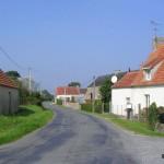 Golleville, D126 vers l'Etang-Bertrand
