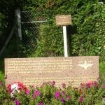 Gonneville-en-Auge, stèle 9th Battalion Parachute Regiment
