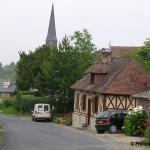 Gonneville-sur-Mer, l'entrée du bourg