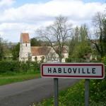 Habloville, l'entrée du bourg
