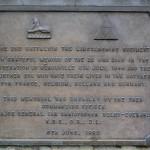 Hérouville-Saint-Clair, plaque The 2nd Battalion The Lincolnshire Regiment