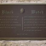 Ifs, stèle et plaque Black Watch of Canada