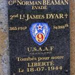 La Fresnaye-au-Sauvage, stèle aviateurs américains