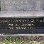 Laize-la-Ville, plaque Fusiliers Mont Royal