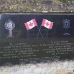 Le Fresne-Camilly, plaque The Royal Winnipeg Rifles & Canadian Scottish