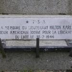 Le Luot, plaque Lieutenant Karl Hilton