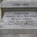 Les Loges-Saulces, monument soldats britanniques