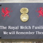 Les Loges-Saulces, plaque The Royal Welch Fusiliers