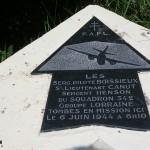 Sainte-Marie-du-Mont, Utah Beach plaque aviateurs Groupe Lorraine