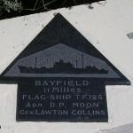 Sainte-Marie-du-Mont, Utah Beach plaque Flag-ship Bayfield