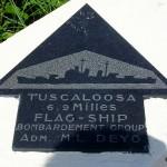 Sainte-Marie-du-Mont, Utah Beach plaque Flag-ship Tuscaloosa