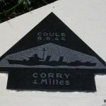 Sainte-Marie-du-Mont, Utah Beach plaque Corry