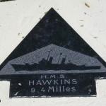 Sainte-Marie-du-Mont, Utah Beach plaque HMS Hawkins