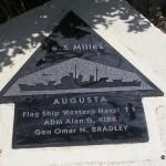 Sainte-Marie-du-Mont, Utah Beach plaque Flag-Ship Augusta