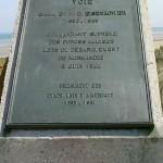 Sainte-Marie-du-Mont, Utah Beach stèle voie Eisenhower
