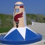 Sainte-Marie-du-Mont, Utah Beach borne kilomètre 00
