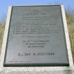 Sainte-Marie-du-Mont, Utah Beach stèle 40e anniversaire