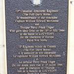 Louvigny, plaque 10th Armoured Regiment