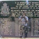 Louvigny, plaque The Royal Regiment of Canada