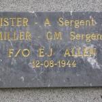 Ménil-Hubert-sur-Orne, plaque pilotes RAF