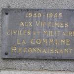 Ménil-Hubert-sur-Orne, plaque victimes civiles et militaires