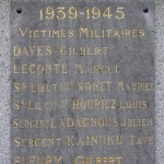 Ménil-Hubert-sur-Orne, plaque victimes militaires