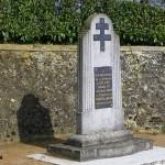 """Mézières-sur-Ponthouin, monument 2e DB """"Leclerc"""""""