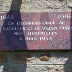 Montchamp, plaque 1st Battalion Welsh Guards