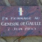 Montchamp, plaque général de Gaulle