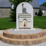Montchamp, stèle du 60e anniversaire
