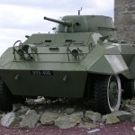 Montormel, mémorial bataille de Normandie, véhicule blindé M8