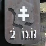 Montormel, mémorial bataille de Normandie, emblème 2e DB française