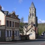Orbec, le centre ville et Notre-Dame d'Orbec