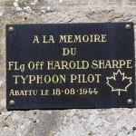Orville, plaque Flying Officer Harold Sharpe