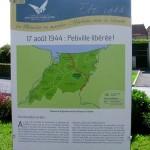 Petiville, panneau du 70e anniversaire de la Libération