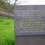 Pont-d'Ouilly, stèle Flight Lieutenant Roy Crane