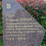 Varaville le Home, stèle brigade Piron