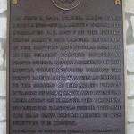Criqueville-en-Bessin, la pointe du Hoc, plaque Lieutenant-Colonel Rudder