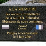 Potigny, plaque 1re DB polonaise