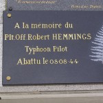 Potigny, plaque Pilot Officer Robert Hemmings