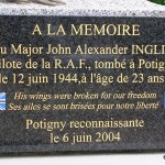 Potigny, stèle Flying Officer John Inglis