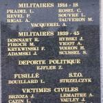 Potigny, plaque victimes civiles et militaires