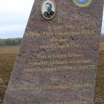 Potigny, stèle Flying Officer John Inglis