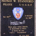 Rabodanges, plaque 1st Lieutenant Herbert Stanford