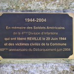 Réville, stèle 4th Infantry Division