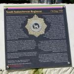 Rocquancourt, stèle The South Saskatchewan Regiment