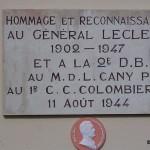 Rouessé-Fontaine, stèle général Leclerc et soldats 2e DB