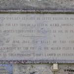 Saint-Côme-de-Fresné, plaque cloches du 6 juin 1944
