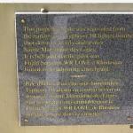 Sainte-Marguerite-des-Loges, plaque Flight Sergeant Wilfred Love