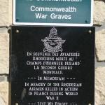Sainte-Marguerite-des-Loges, plaque pilotes rhodésiens de la RAF